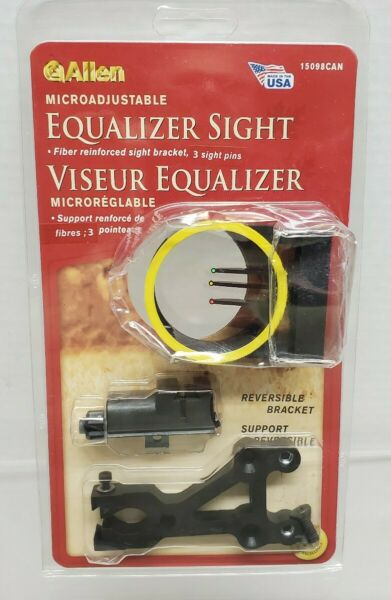 Allen 3 Bow Sight Pin Reversable Bracket Microadjustable Equalizer #15098CAN $10.95