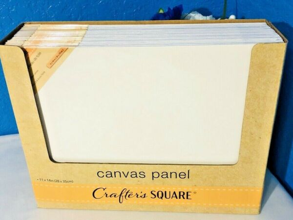 1X Stretched Art Canvas 11x14 White CottonPanel Painting Supplies Acrylic Oil  $3.95