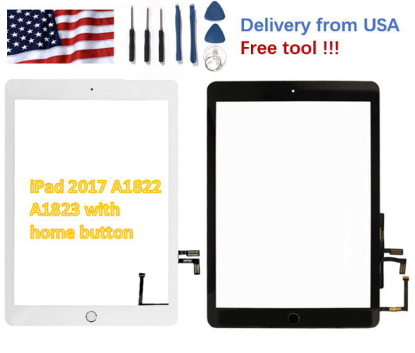 Replacement Touch Screen Digitizer Display LCD For iPad 5th 2017 A1822 A1823