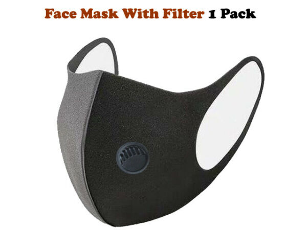 Black Face Filter Air Activated Carbon Filter Unisex 1 Pack