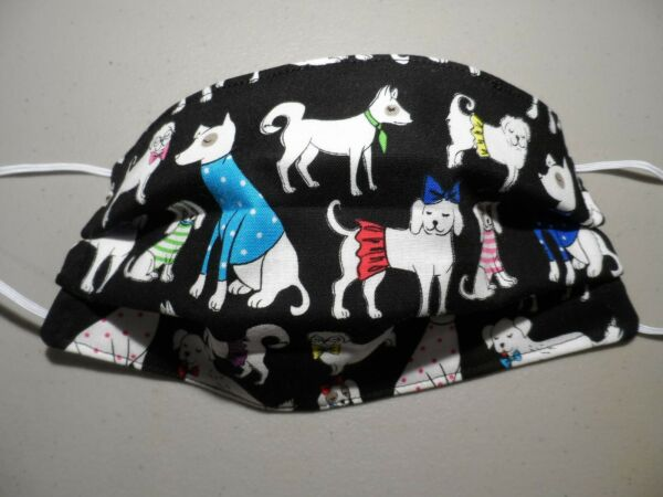 Homemade Fancy Dogs in Human Clothes Adult Face Mask Made in the USA Lot579 $8.99