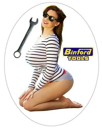 Sexy Tool Box Sticker Busty babe Toolbox tackle box mechanic Binford Tools