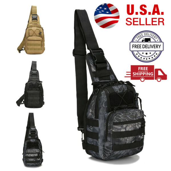 Outdoor Shoulder Military Tactical Backpack Travel Camping Hiking Trekking Bag $14.99