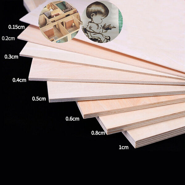 1.5MM 10MM Basswood Board Plywood Aviation Model Layer Plank DIY Wood Material $6.07