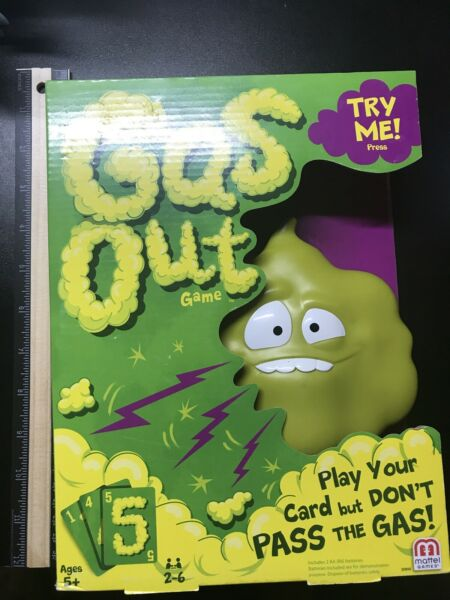 Gas Out Game Play Your Card But Don#x27;t Pass The Gas by Mattel Kids Funny Gross $9.99