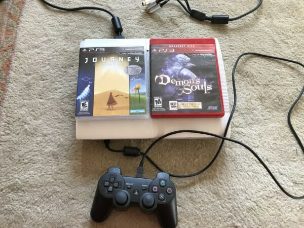 500gb PS3 with controller AV cable and Demon's Souls  Journey