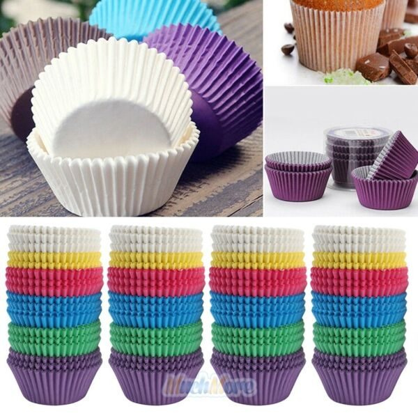400Pcs Standard Dia. 2.5quot; Cupcake Liners Greaseproof Paper Muffin Baking Cups US