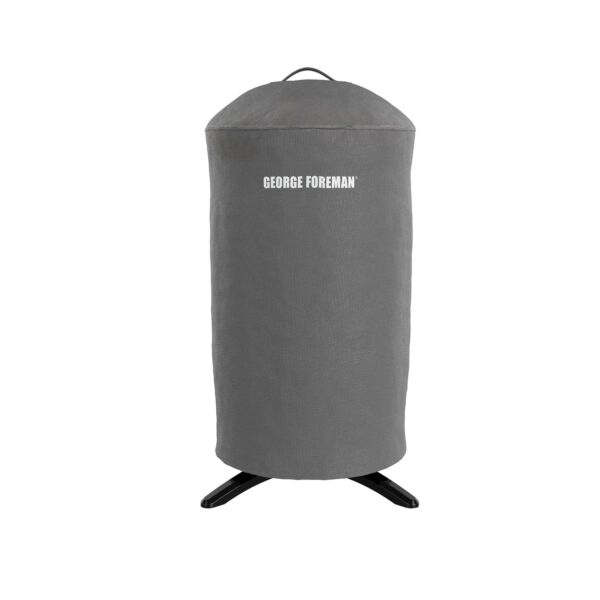 Gray Round Grill Cover GFA0240RDCG Durable Material Water Resistant W Handle
