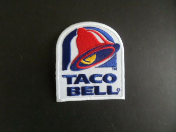 TACO BELLquot; RESTURANTS EMBROIDERED IRON ON PATCHES 3 X 2 1 2 $4.49