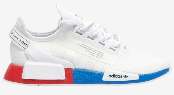 Adidas Originals NMD R1 V2 White Lush Red Blue FX4148 Mens Running Shoes Runners