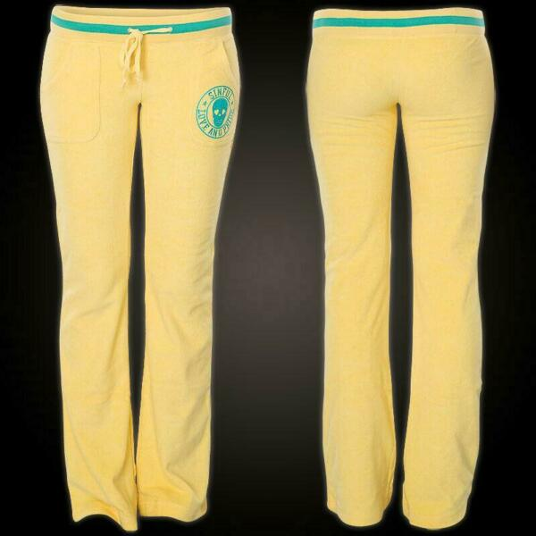 Sinful AFFLICTION Women#x27;s Sweatpants Callie Track Pant Yellow $29.99