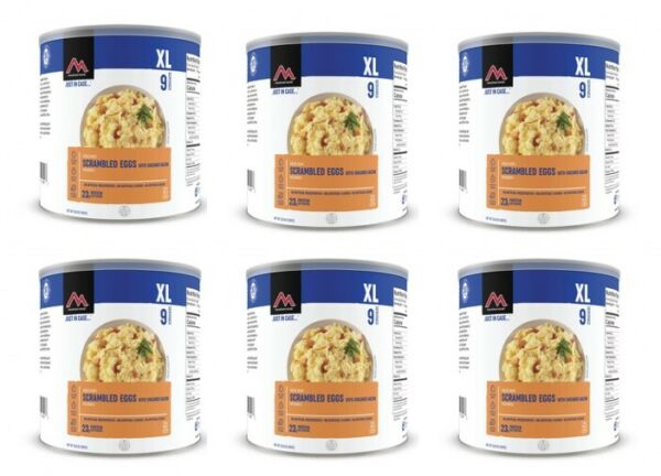 Mountain House Scrambled Eggs with Bacon 6 Cans Clean Label Free Shipping