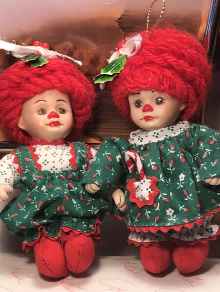 Marie Osmond MINI JINGLES & BELLE DOLLS IN BOX WITH TAG PRE-owned