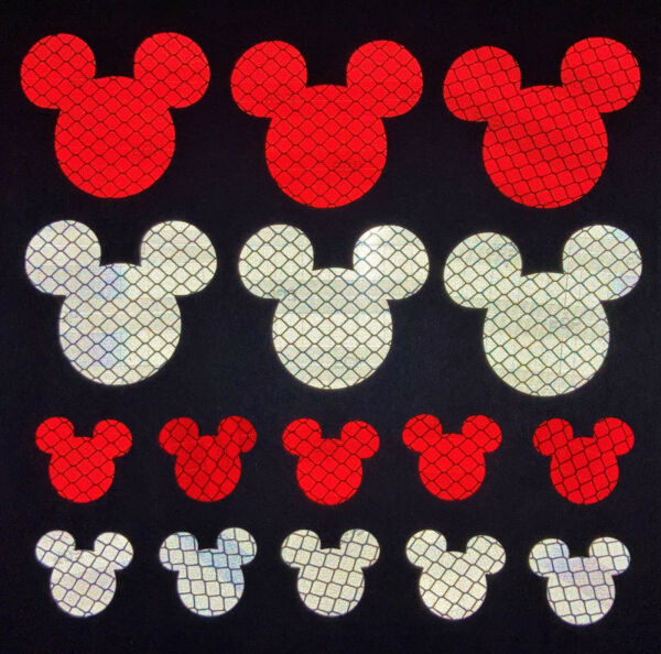 Mickey Mouse 3M Reflective Stickers Decals Reflector Pack for Car Bike Laptop $9.95