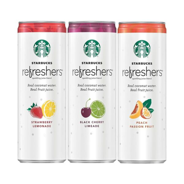 Starbucks Refreshers Coconut Water 3 Flavor Variety 12 Pack 12 fl Oz. Can