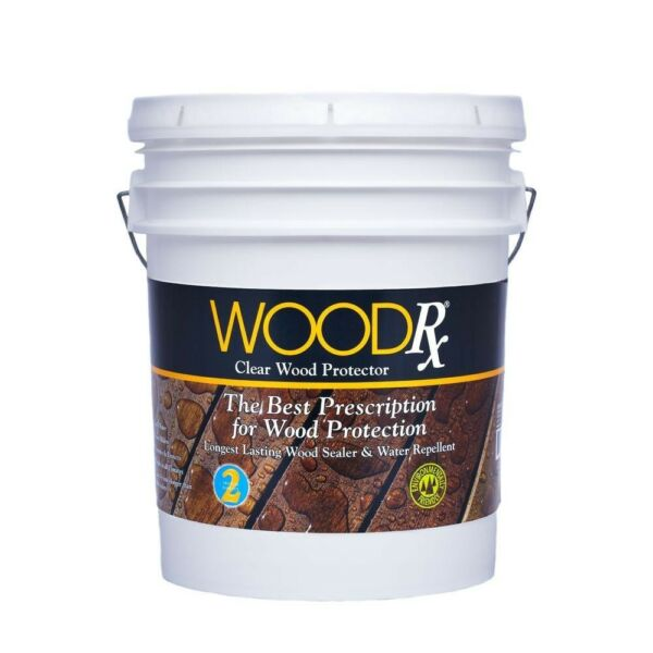 WoodRx Clear Water Repellent Wood Sealer Exterior Stain 5 Gal. Wet Dry Wood $88.37