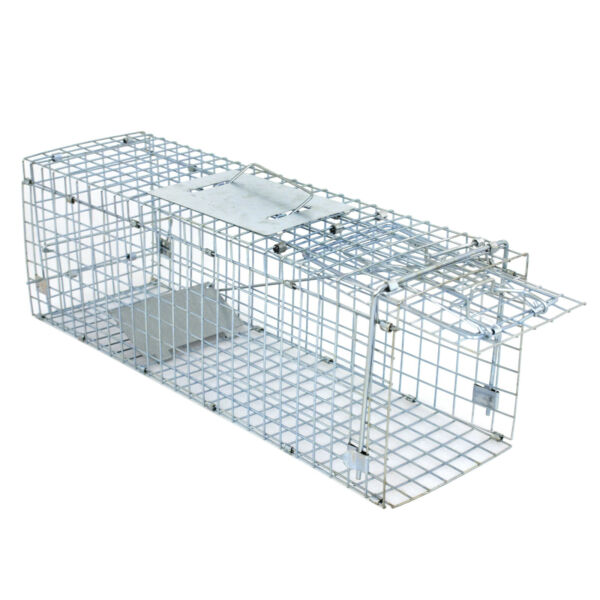 Extra Large Rodent Cage Garden Live Animal Trap Rabbit Raccoon Cat 24