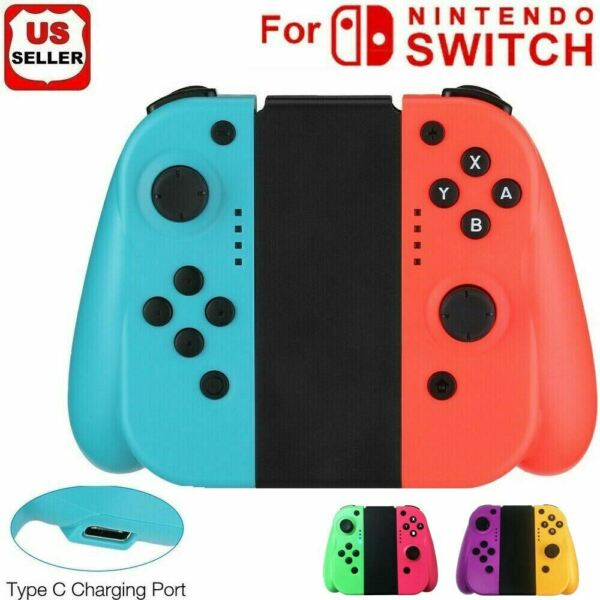 For Nintendo Switch Switch Lite (LR) Wireless Bluetooth Controllers - BlueRed