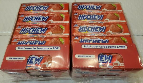 (SEE DETAILS) 2x 15 Pack Boxes Hi-Chew Strawberry Chewy Fruit Candy 300 Pieces  $19.99