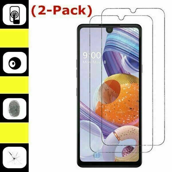 2 Pack Premium Real 9H Tempered Glass Screen Protector For LG Stylo 6