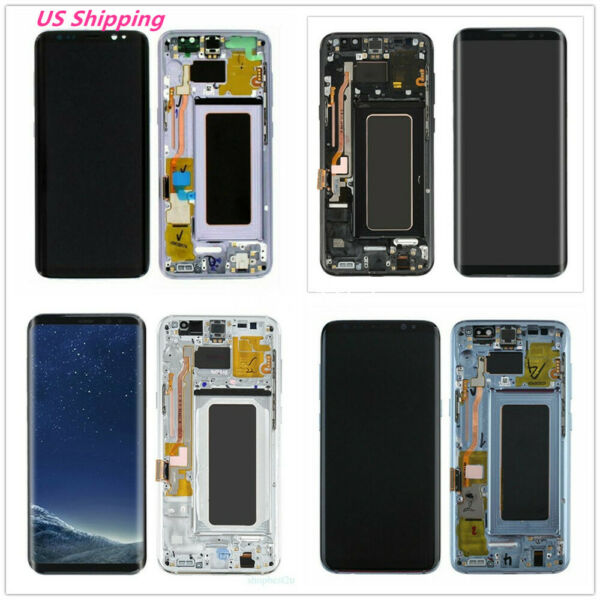 USA For Samsung Galaxy S8 Plus G955 LCD Display Screen Digitizer with Frame B