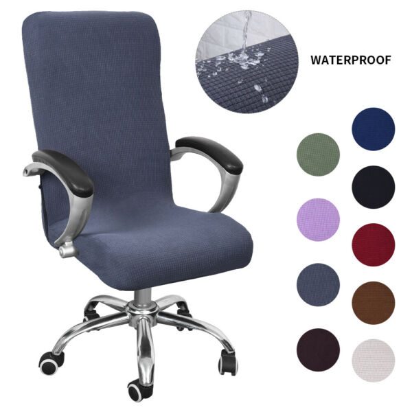 Computer Office Chair Cover Universal Chair Stretch Rotating Spandex Slipcovers. $11.29