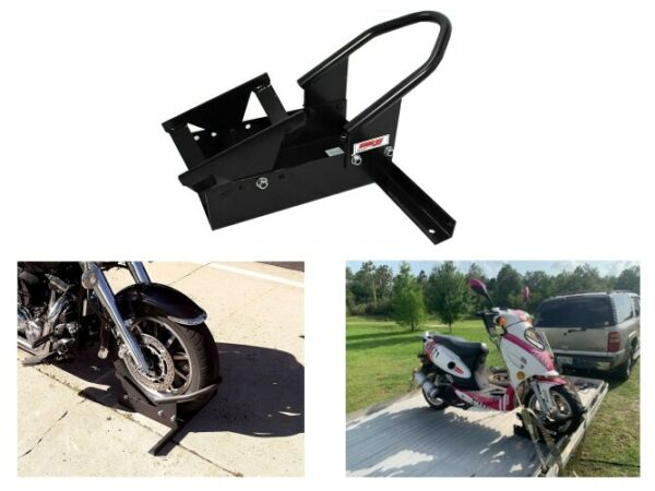 Motorcycle Parking Wheel Stand Durable Heavy Duty Front Tire Trailer Bike Chock $89.99