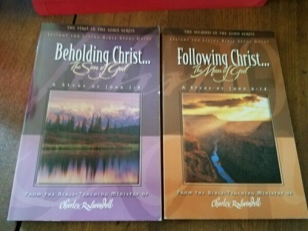 CF50 John Series 2 Books by Charles Swindoll Beholding Christamp; Following Christ