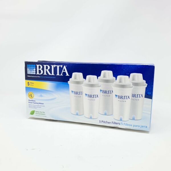 NEW Brita 5 Pack Water Pitcher Replacement Filters Sealed New In Box