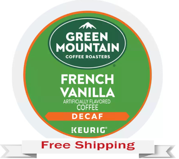 Keurig Green Mountain French Vanilla Decaf Coffee K cups 24 Count