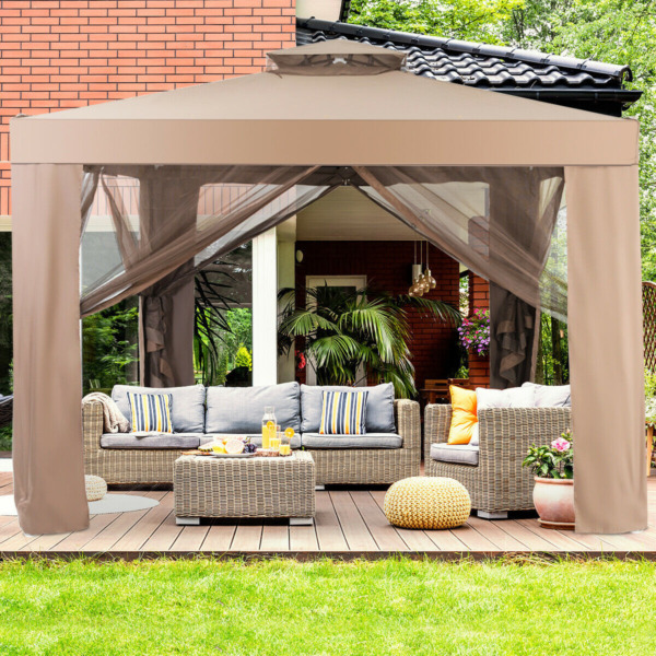 Canopy Gazebo Tent Shelter Garden Lawn Patio with Mosquito Netting $325.49