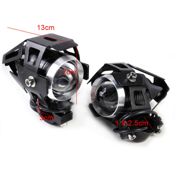 2x 15W U5 Headlight Driving LED Spotlight Fog Light Lamp fit for Motorcycle nt