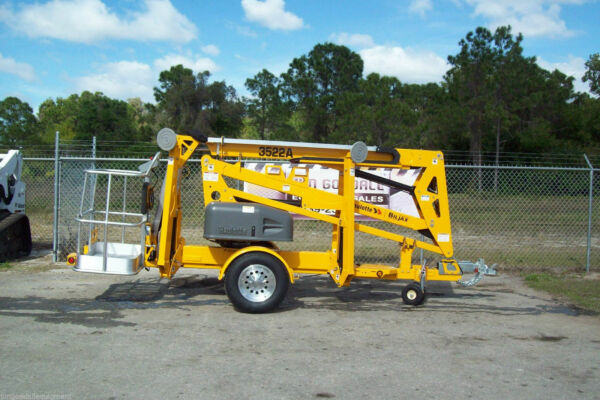 Haulotte 3522A 43' Towable Boom Lift 20' OutreachFormer Bil-Jax Still Made USA