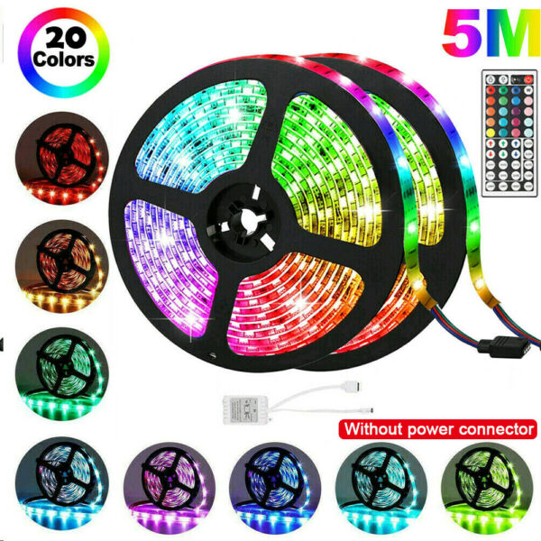 Flexible Strip Light RGB LED SMD Remote Fairy Lights Room TV Party Bar~