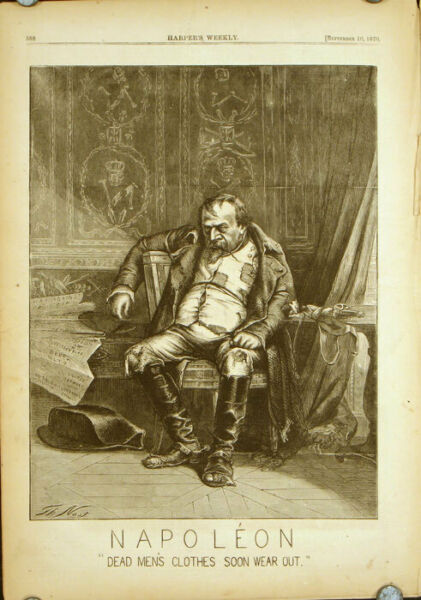 FRANCO-PRUSSIAN WAR  Harper's Weekly COMPLETE ISSUE Front cover illustration