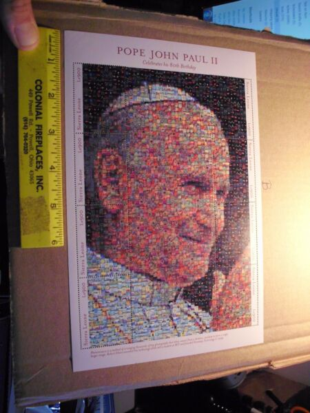 SIERRA LEONE IMPERF POPE JOHN PAUL II PHOTOMOSAIC SHEET SC#2360 MINT Pray hope a $19.99