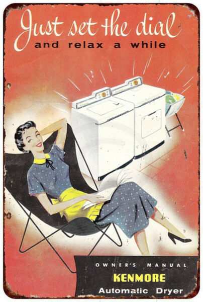 Kenmore Automatic Dryer Vintage Look Reproduction Metal Sign 12 x 8 $18.99