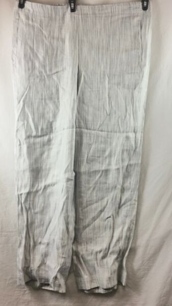 NEW J Jill Zinc Multicolour Easy Linen Stretch Front Pants Size 16 $19.95