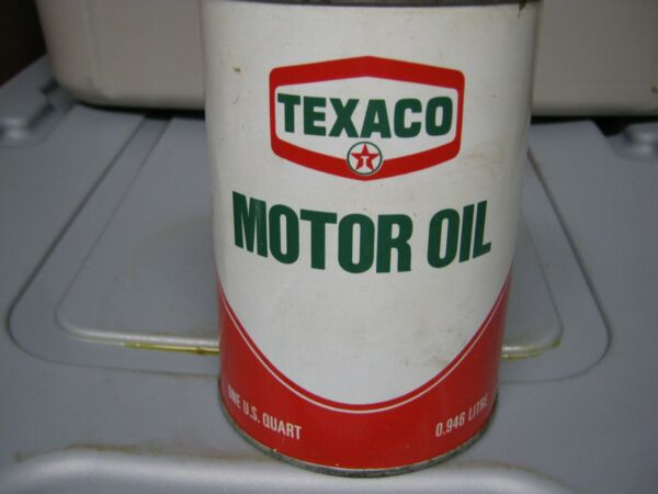 Vintage One Quart Oil Cans Man Cave Collection Texaco #2