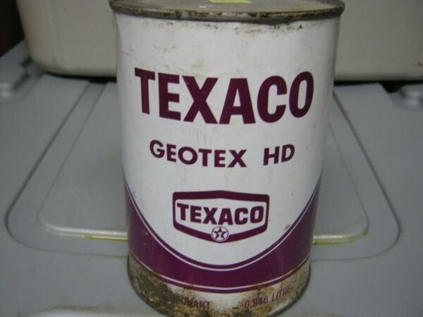Vintage One Quart Oil Cans Man Cave Collection Texaco #4