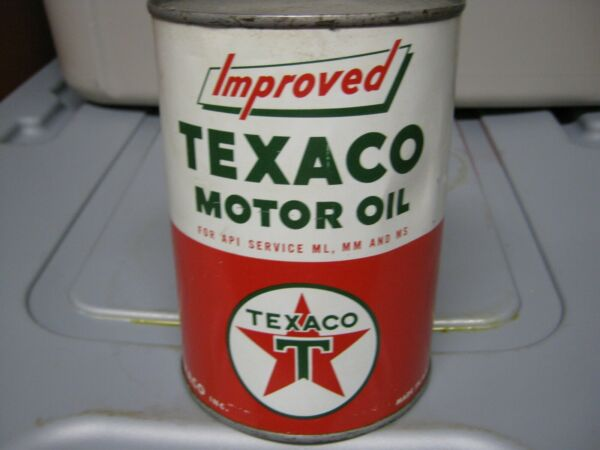 Vintage One Quart Oil Cans Man Cave Collection Texaco #5