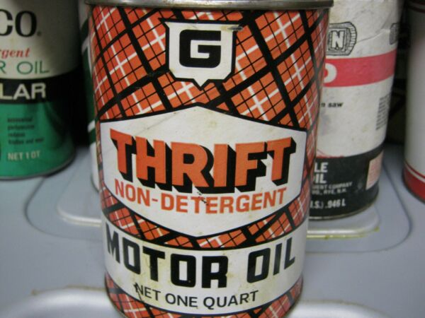 Vintage One Quart Oil Cans Man Cave Collection Thrift