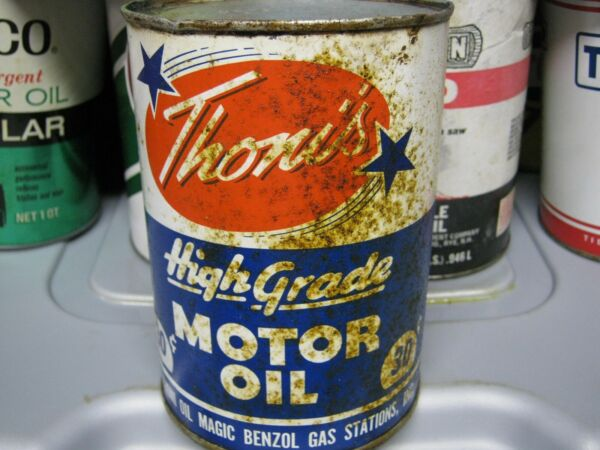 Vintage One Quart Oil Cans Man Cave Collection Thom's