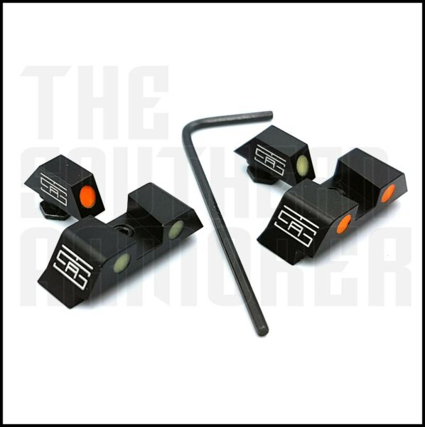 NIGHT SIGHTS FOR GLOCK FITS ALL MODELS ALL GENERATIONS COMBINE REAR FRONT COLOR