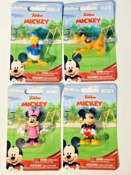 Disney Junior Mickey Mouse Figurines Collectable Toy Birthday Cake Topper Lot 4X