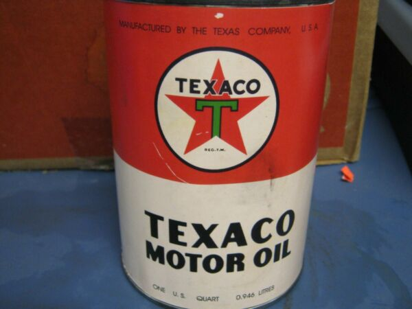 Vintage One Quart Oil Cans Man Cave Collection Texaco #33