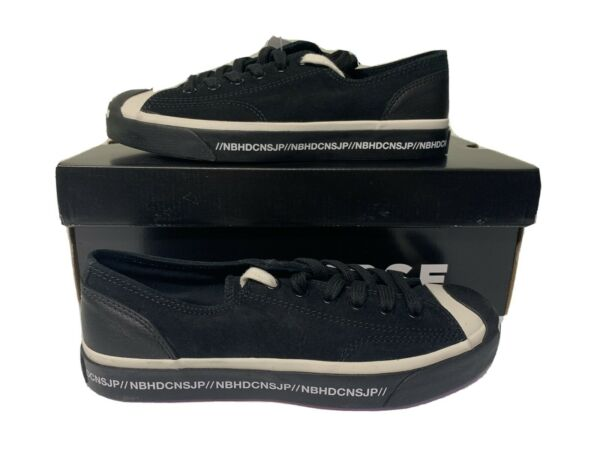 BRAND NEW CONVERSE JACK PURCELL OX NEIGHBORHOOD MOTORCYCLE LOW BLACK SIZE 6 MENS