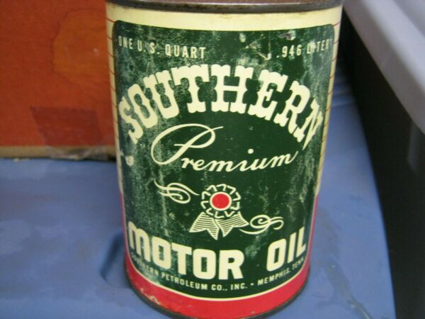 Vintage One Quart Oil Cans Man Cave Collection Southern