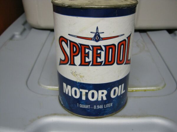 Vintage One Quart Oil Cans Man Cave Collection Speedol