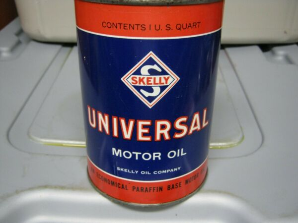 Vintage One Quart Oil Cans Man Cave Collection Skelly